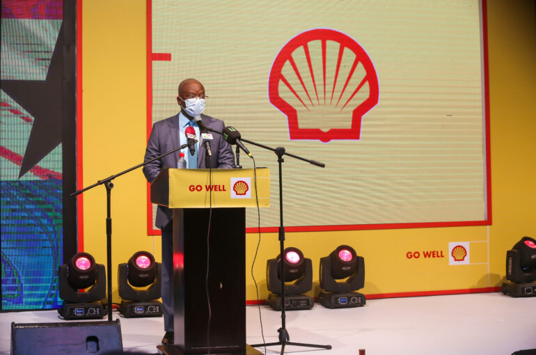 The Managing Director of Vivo Energy Ghana, Mr. Ben Hassan Ouattara at the launch of the new Shell fuels with Dynaflex Technology